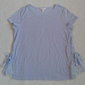 Lauren Conrad Flowy Blue Shirt